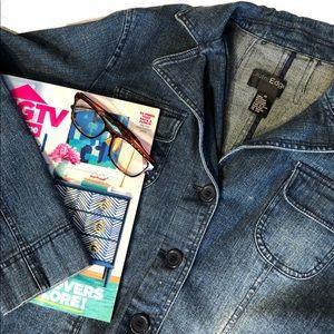Plus size jean jacket blazer 1X